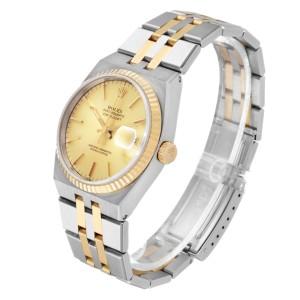 Rolex Oysterquartz Datejust 36mm Steel Yellow Gold Mens Watch 17013