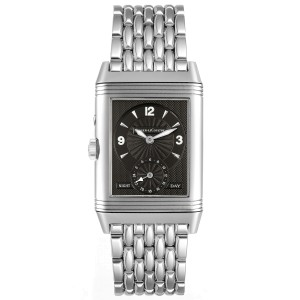Jaeger LeCoultre Reverso Duo Day Night Steel Watch 270.8.54 Q270854