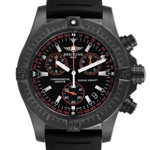 Breitling Avenger Seawolf Blacksteel Chrono Orange Hands Watch M73390 Unworn
