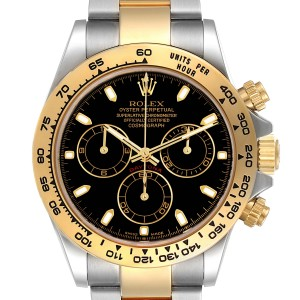 Rolex Cosmograph Daytona Steel Yellow Gold Black Dial Mens Watch 116503