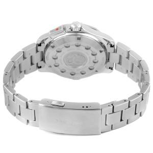 Tag Heuer Aquaracer Alarm Black Dial Steel Mens Watch WAP111Z Box Card