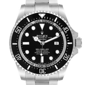 Rolex Seadweller Deepsea 44 Black Dial Steel Mens Watch 126660 Box Card