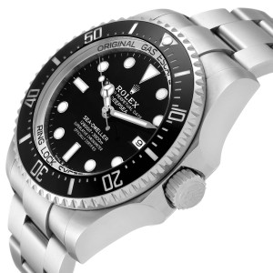Rolex Seadweller Deepsea 44 Black Dial Steel Mens Watch 126660 Box Card