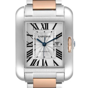 Cartier Tank Anglaise Large Steel 18K Rose Gold Watch