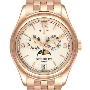 Patek Philippe Complicated Annual Calendar Rose Gold Watch 5146 Box Papers