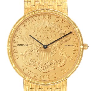 Corum 20 Dollars Double Eagle Yellow Gold Coin Mens Watch 1875