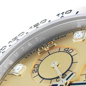 Rolex Cosmograph Daytona Steel Yellow Gold Diamond Watch 116503 Card