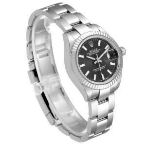 Rolex Datejust 28 Steel White Gold Slate Dial Ladies Watch 279174
