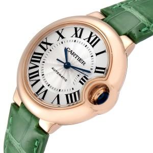 Cartier Ballon Bleu Rose Gold Silver Dial Ladies Watch W6920097 Box Papers