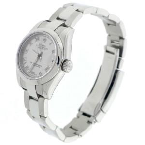 Rolex Datejust Ladies Rhodium Roman Dial 26MM Automatic Stainless Steel Watch 179160