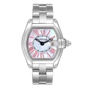 Cartier Roadster Mother of Pearl Dial Steel Ladies Watch W6206006