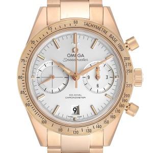 Omega Speedmaster 57 Rose Gold Silver Dial Mens Watch 331.50.42.51.02.002