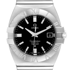 Omega Constellation Double Eagle Black Dial Steel Mens Watch 1513.51.00