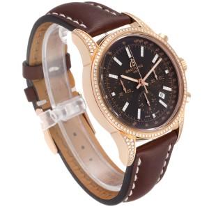 Breitling Transocean 43mm Rose Gold Diamond Mens Watch RB0152 Unworn