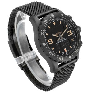 Breitling Chronospace Military GMT Alarm Blacksteel Mens Watch M78366 Unworn