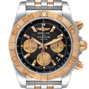 Breitling Chronomat Evolution Steel Rose Gold Mens Watch CB0110 Unworn