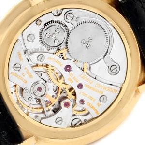 Audemars Piguet 18K Yellow Gold Black Strap Ladies Vintage Watch