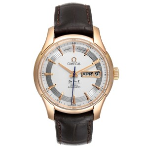 Omega DeVille Hour Vision 18k Rose Gold Watch 431.63.41.22.02.001 Unworn