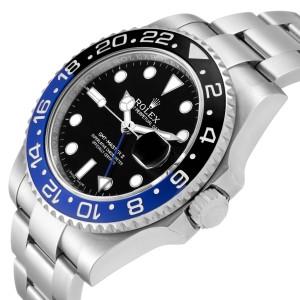 Rolex GMT Master II Batman Blue Black Ceramic Bezel Steel Watch 116710