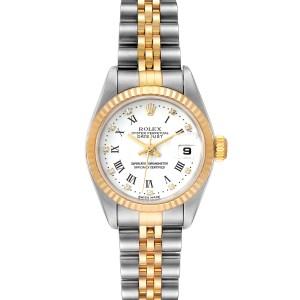 Rolex Datejust Steel Yellow Gold White Diamond Dial Ladies Watch 79173