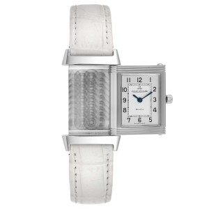 Jaeger LeCoultre Reverso Classique Silver Dial Watch 260.8.08 Box Papers