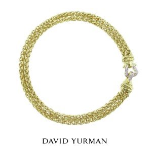 David Yurman 18K Yellow Gold and Diamond Necklace