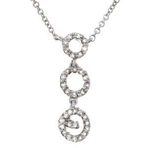 14k White Gold 0.14 Ct Diamond Pendant