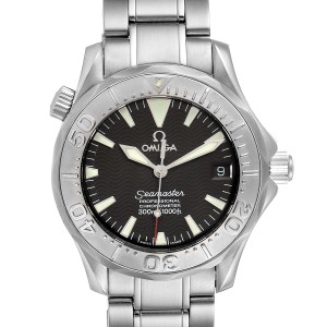 Omega Seamaster 36mm Midsize Black Wave Dial Steel Watch 2236.50.00