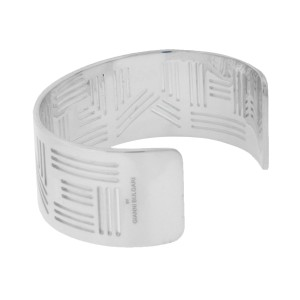 """Enigma By Bulgari """"ENIGMA LOGO"""" bangle in sterling silver size large."""