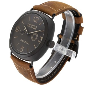 Panerai Radiomir Composite Marina Brown Dial Mens Watch PAM00339 Box Papers