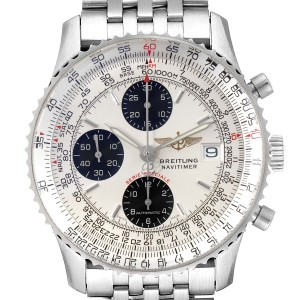 Breitling Navitimer Fighter Panda Dial Steel Mens Watch A13330 Box Papers