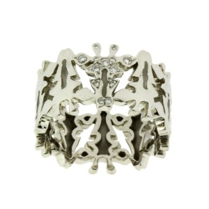 Carrera y Carrera DIAMOND GIRAFFE RING IN 18K WHITE GOLD NEW IN BOX MSRP$3200