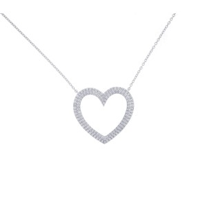 Tiffany & Co. Diamond Heart Pendant Necklace