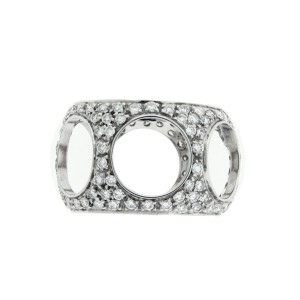 Damiani 18K White Gold & 1.70ctw. Diamond Ring Size 7.5