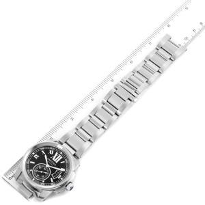 Calibre De Cartier Stainless Steel Black Dial Mens Watch