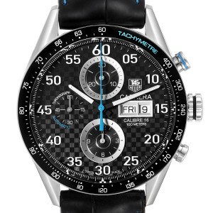 Tag Heuer Carrera Day Date Chronograph Steel Mens Watch CV2A16 Card