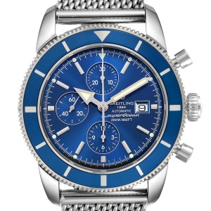 Breitling SuperOcean Heritage Chronograph 46 Watch A13320 Box Papers Strap