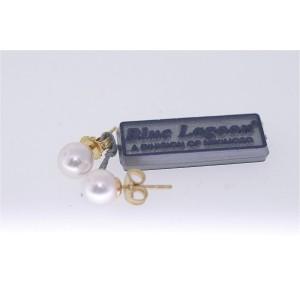 Mikimoto Blue Lagoon 14K Yellow Gold Pearl Stud Earrings
