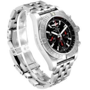 Breitling Chronomat 01 Black Dial Steel Limited Mens Watch AB0111 Box Papers