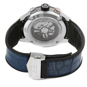 Tag Heuer Carrera Blue Skeletonized Dial Mens Watch CBG2A1Z Box Card