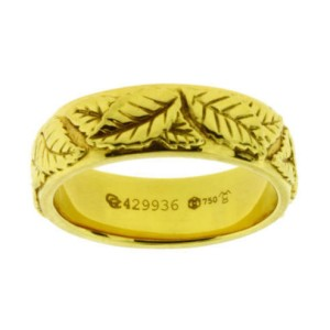 Carrera Y Carrera Leaves 18K Yellow Gold Band