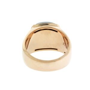 Fred Paris 18K Rose Gold Smokey Quartz & Diamond Ring