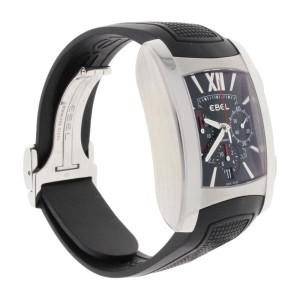 Ebel E9126M52 Brasilia Chronograph Black Dial Steel Automatic Mens Watch