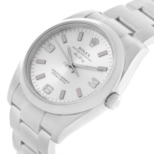 Rolex 114200 Air King Silver Dial Oyster Bracelet Mens Watch