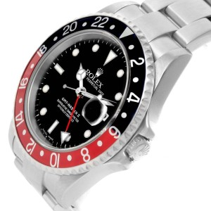 Rolex GMT Master II 16710 Black Red Coke Bezel Date Watch
