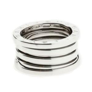Bulgari 18K White Gold 4 Band Ring