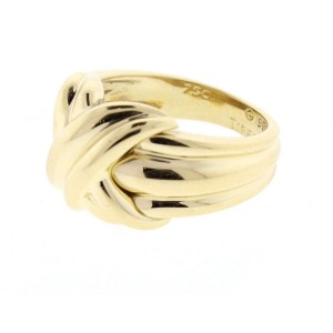 Tiffany & Co. 18K Yellow Gold Signature Ring Sz 6