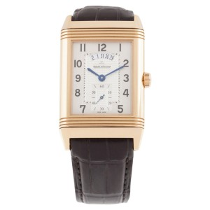 Jaeger-LeCoultre Grande Reverso Duoface 18K Rose Gold & Leather 30mm Watch