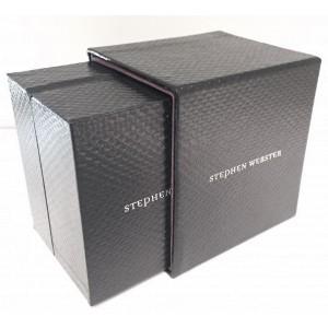 "Stephen Webster 18K White Gold ""Deco"" Pave Blue Sapphire & Black Diamond Bracelet"