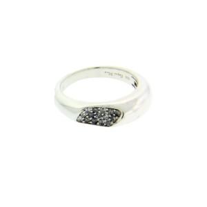 Roberto Coin Capri Plus Sterling Silver Diamond Ring Size 6.75